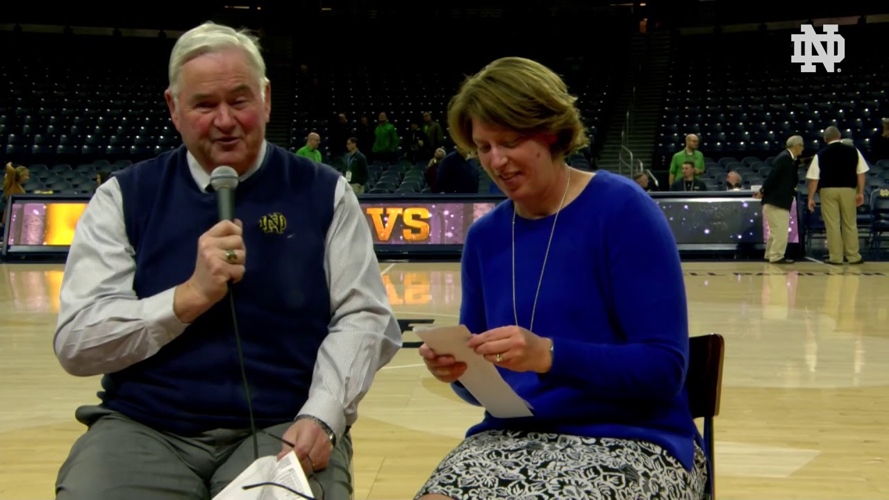 @ndwbb | Marina Mabrey and Coach Beth Cunningham Instant Reaction vs. Iowa (2018)