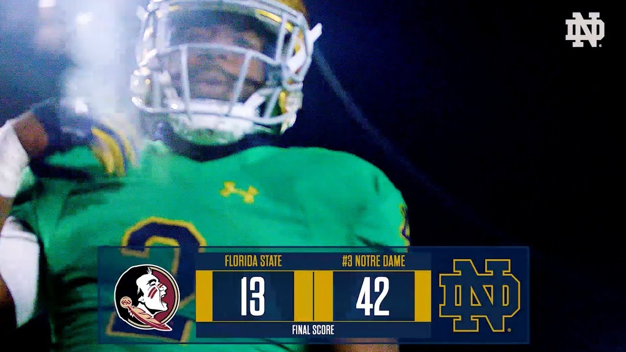 Top Plays Ndfootball Vs Florida State 2018 Notre Dame Fighting Irish Official Athletics Website