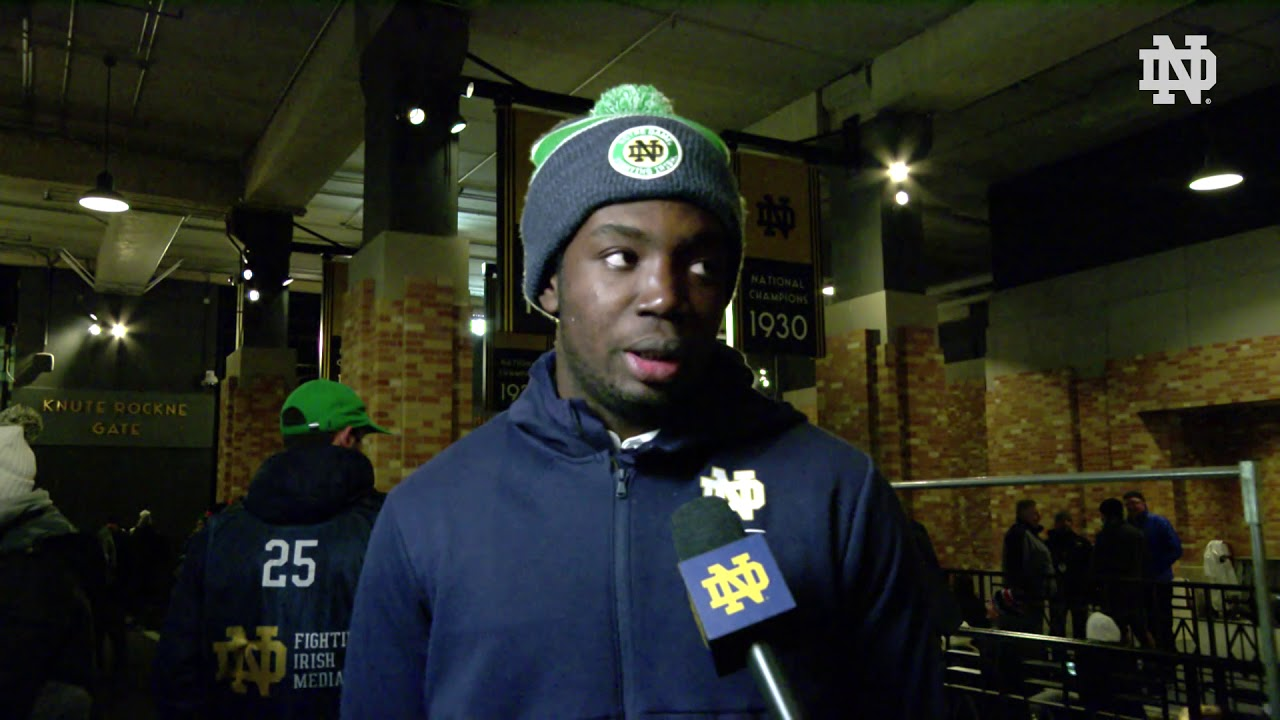 @NDFootball | Adetokunbo Ogundeji Post Game Interview vs. Florida State (2018)