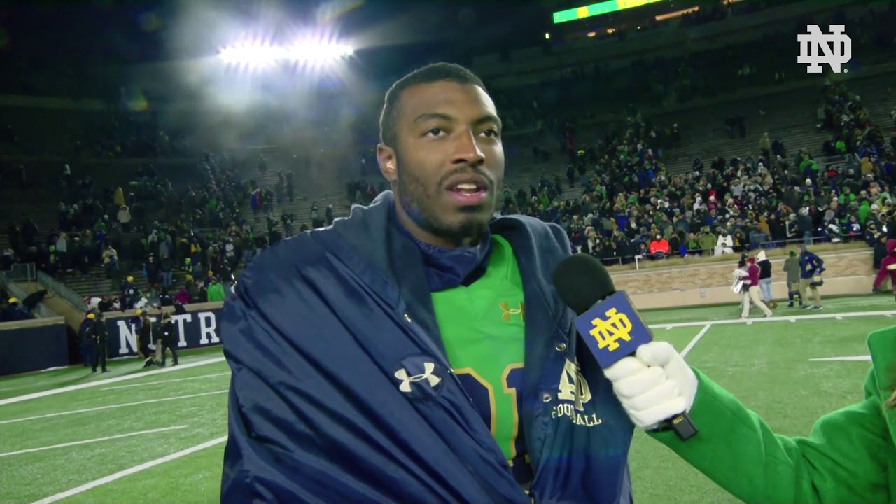 @NDFootball | Post Game Interview Miles Boykin
