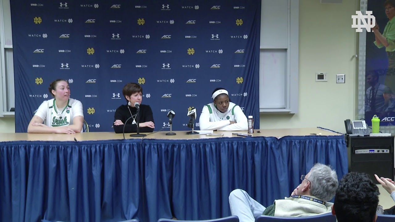 @ndwbb | Post-Game Press Conference vs. Harvard (2018)