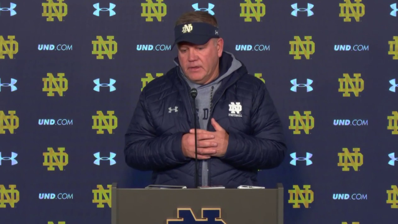 @NDFOOTBALL BRIAN KELLY PRESS CONFERENCE - FLORIDA STATE (11/8/18)