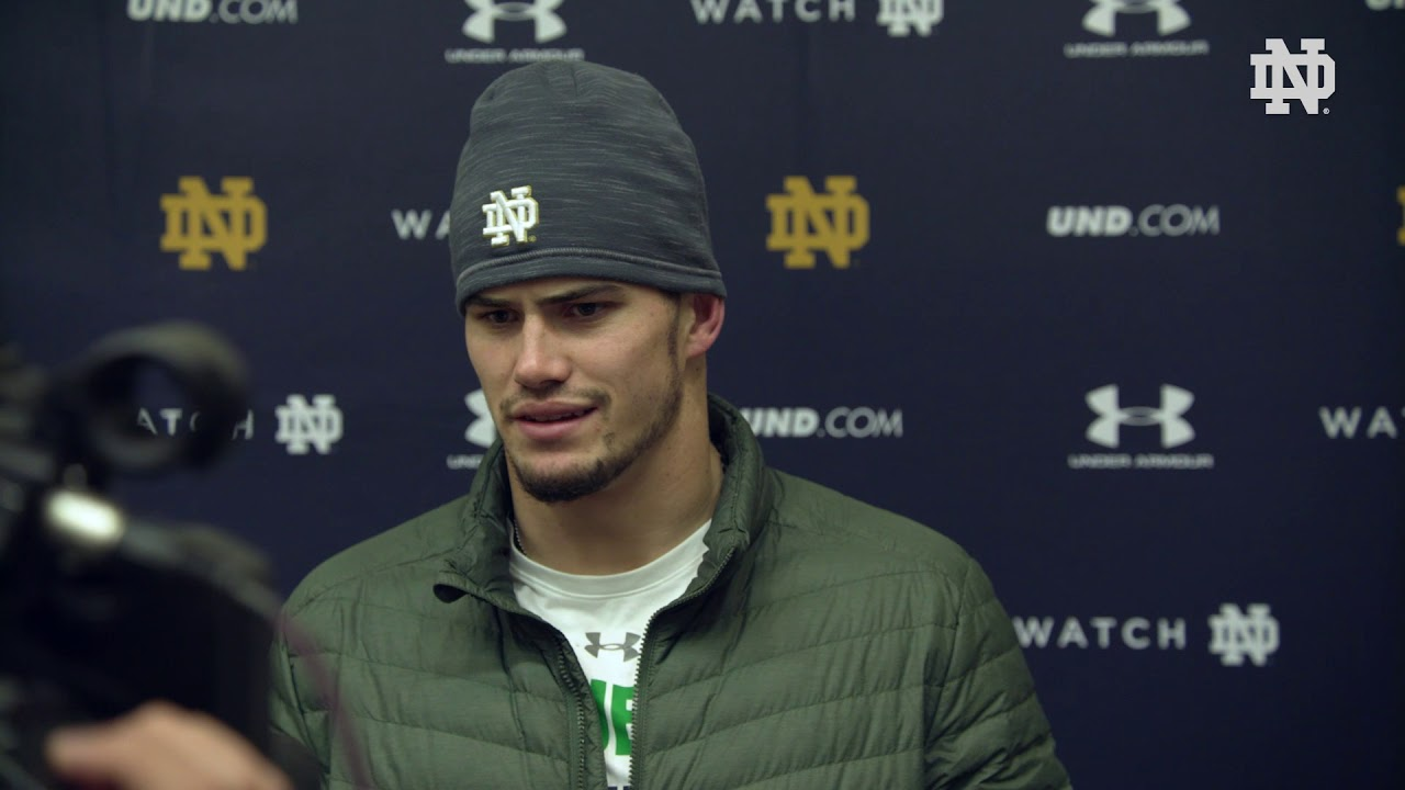 @NDFootball | Drue Tranquill Post Practice Interview Florida State Week (2018)