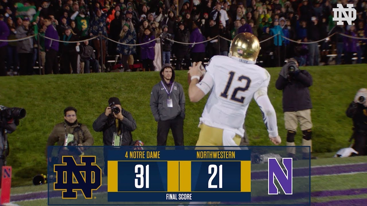Top Plays | @NDFootball vs.Northwestern (2018)