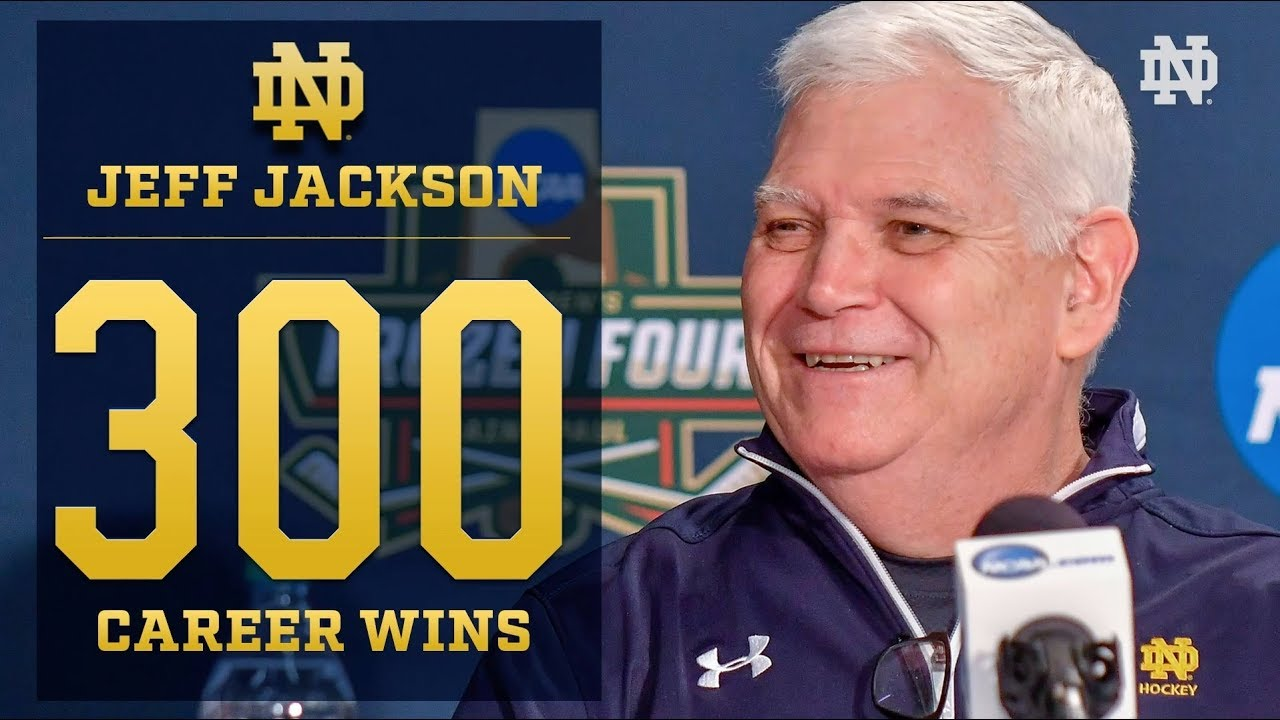 @NDHockey | Jeff Jackson 300th Win (2018)