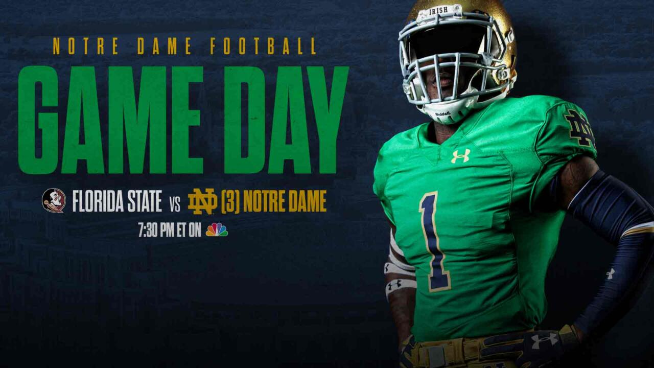 3 Notre Dame Vs Florida State Nbc Sports And Live Radio Links Notre Dame Fighting Irish Official Athletics Website