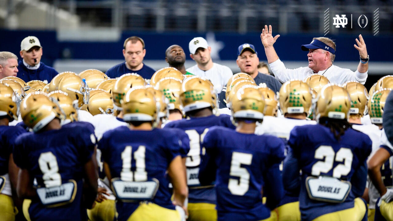 Brian Kelly Cotton Bowl Practice 1