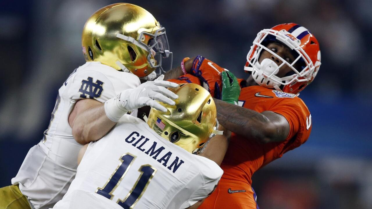 NCAA Football: College Football Playoff Semifinal-Cotton Bowl-Notre Dame vs Clemson