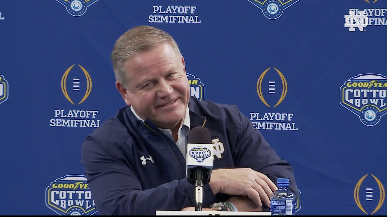 @NDFootball | Brian Kelly Cotton Bowl Media Day (12.27.18)