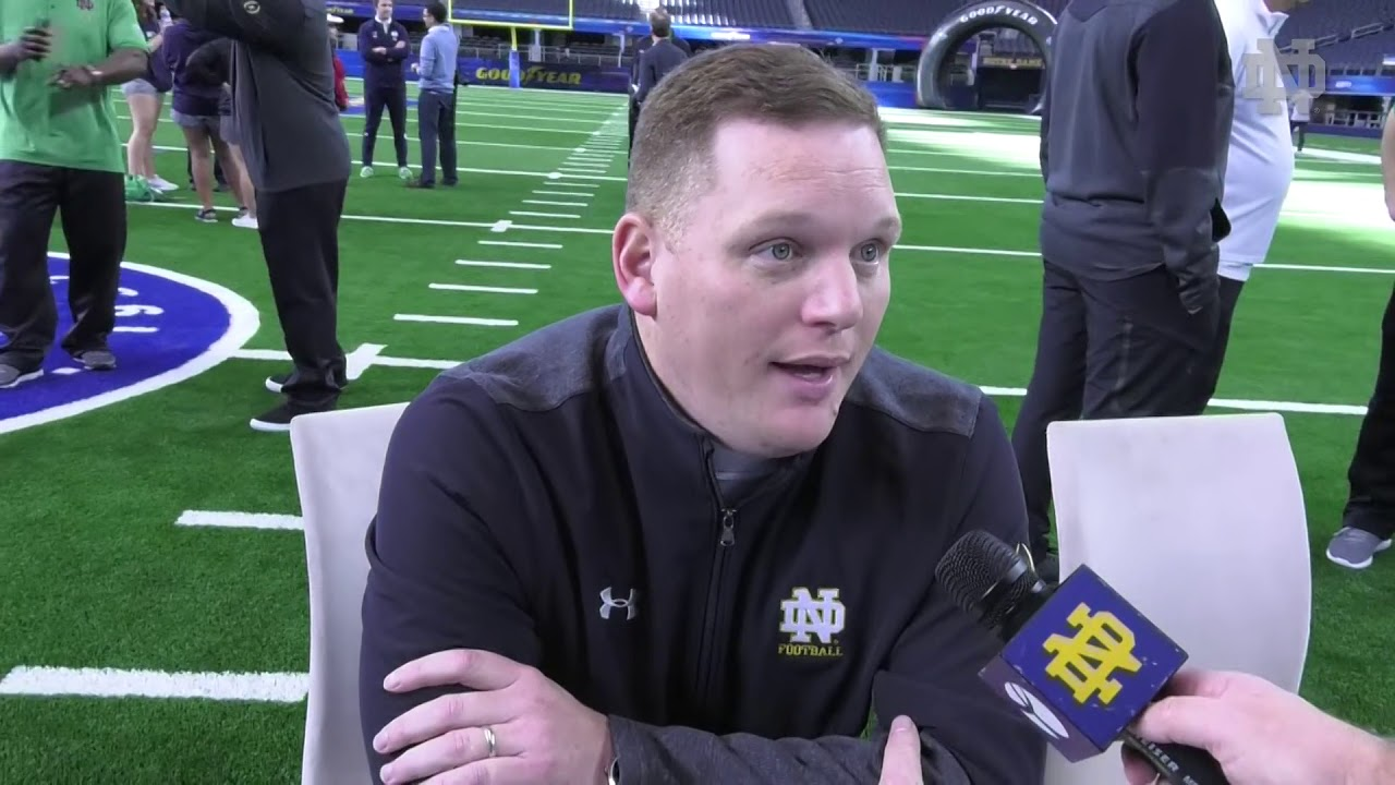 @NDFootball | Chip Long Cotton Bowl Media Day (12.27.18)