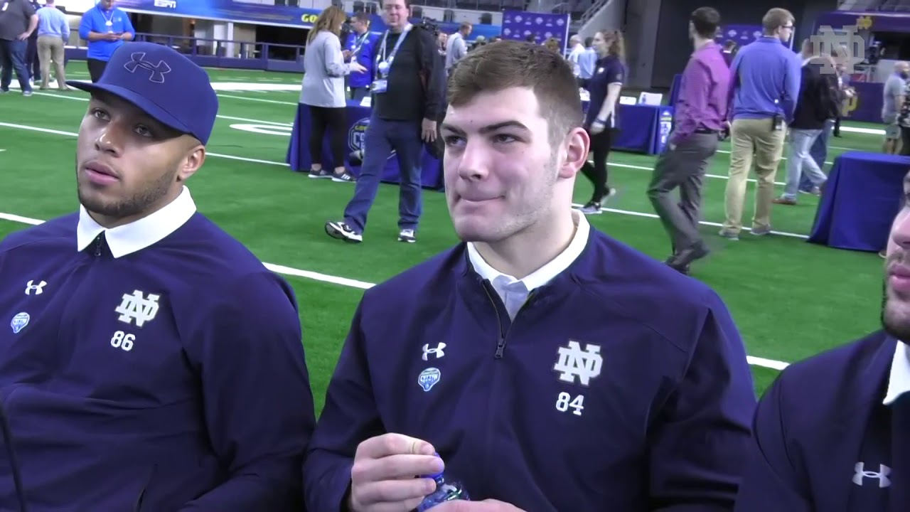 @NDFootball | Tight Ends Cotton Bowl Media Day (12.27.18)