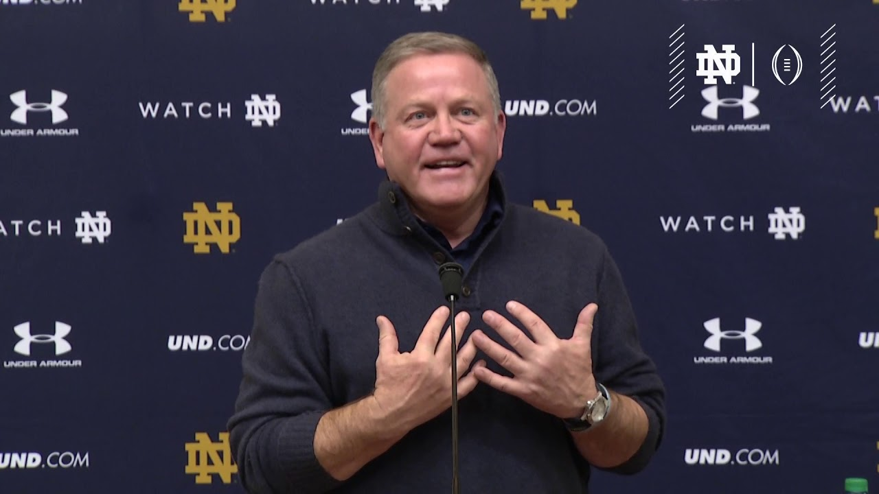 @NDFootball | CFP Selection Brian Kelly Press Conference (2018)