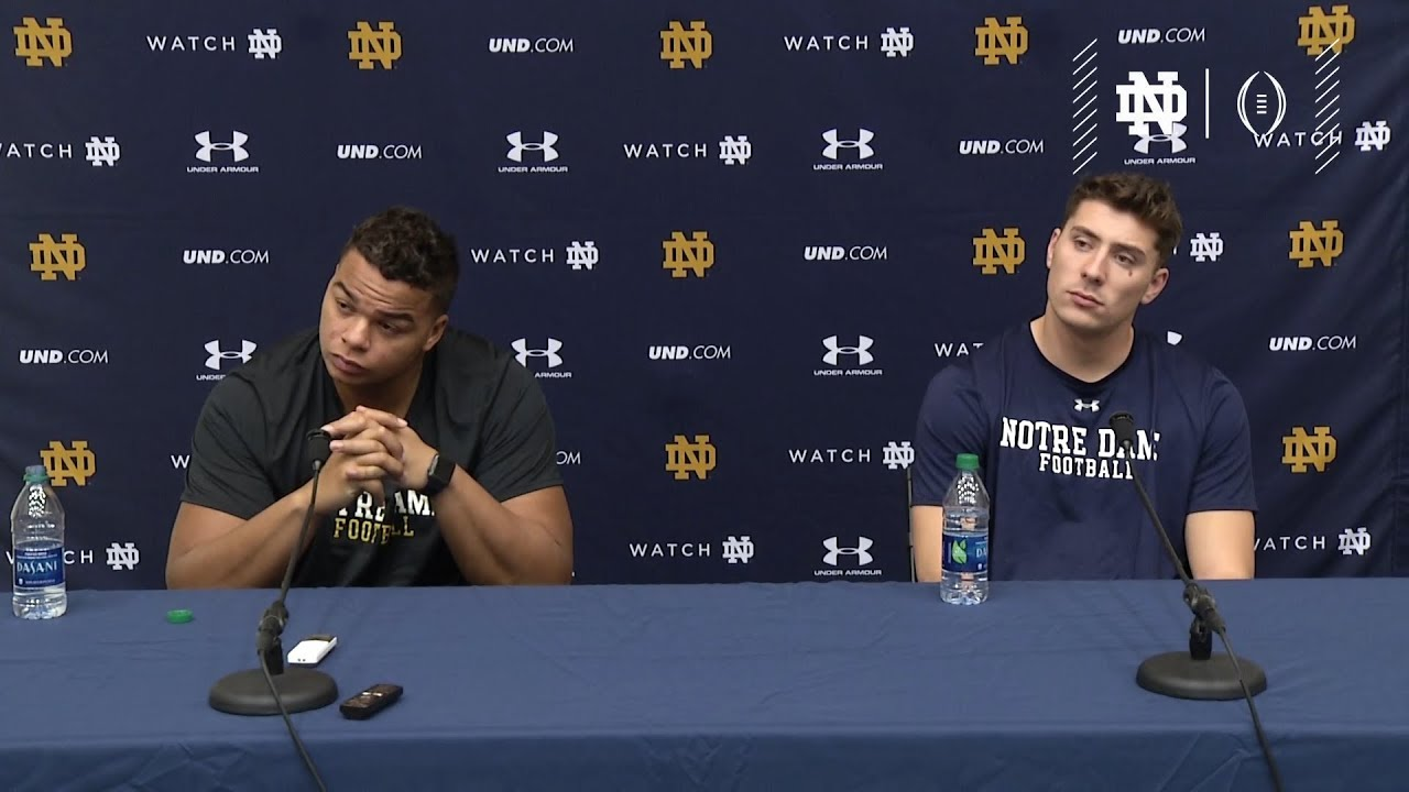 @NDFootball | CFP Selection Offense Press Conference (2018)