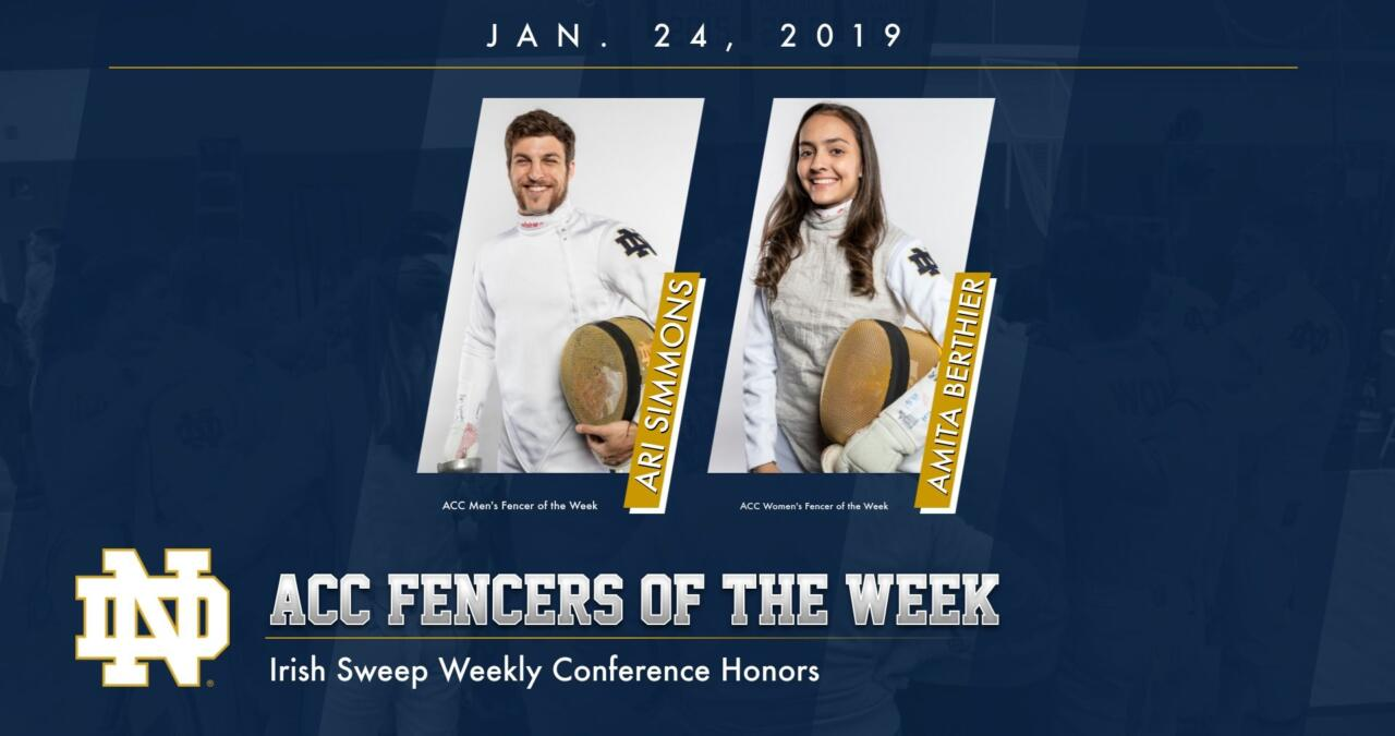 ACC Fencers of the Week
