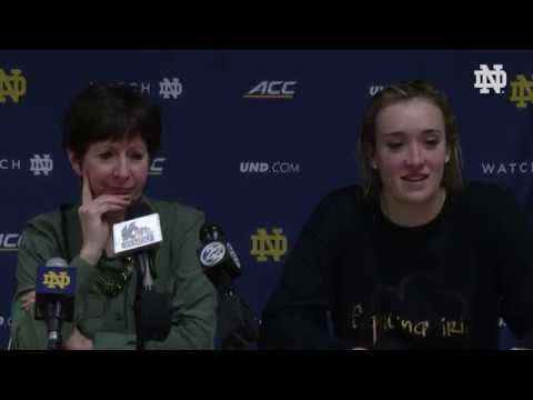 @ndwbb | Post-Game Press Conference vs. Wake Forest (2019)