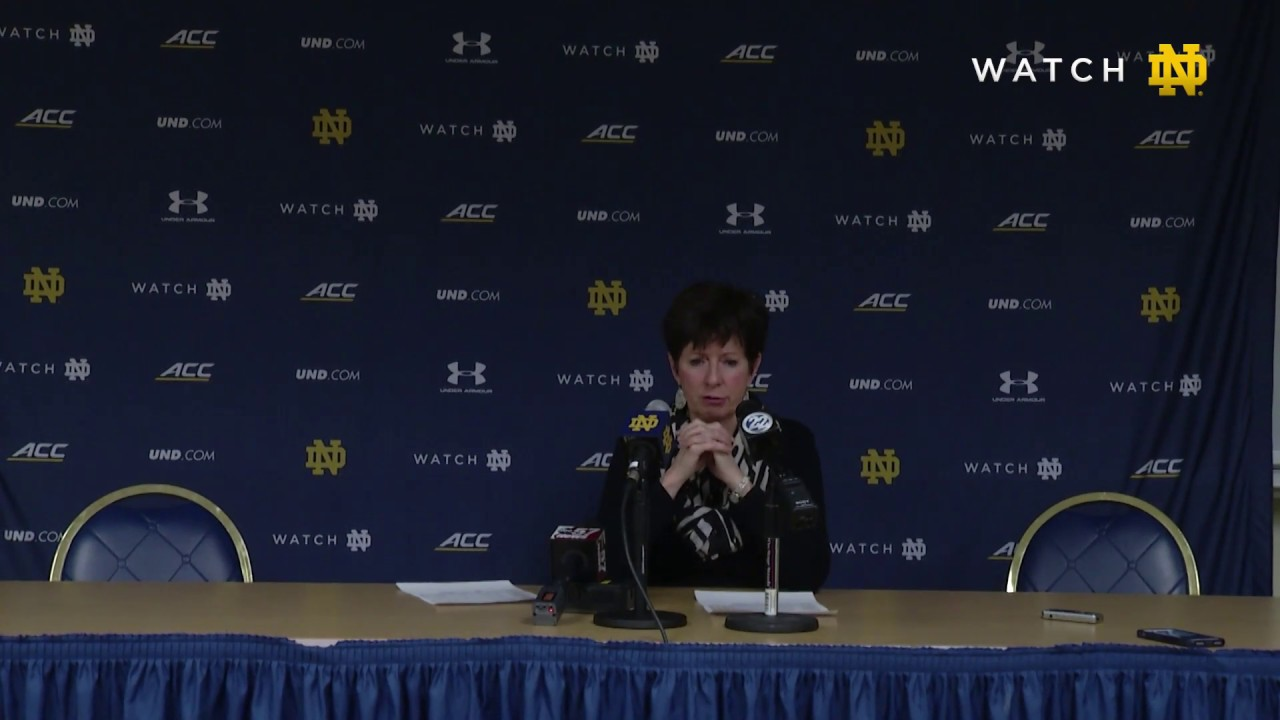 @ndwbb | Post-Game Press Conference vs. Pittsburgh (2019)