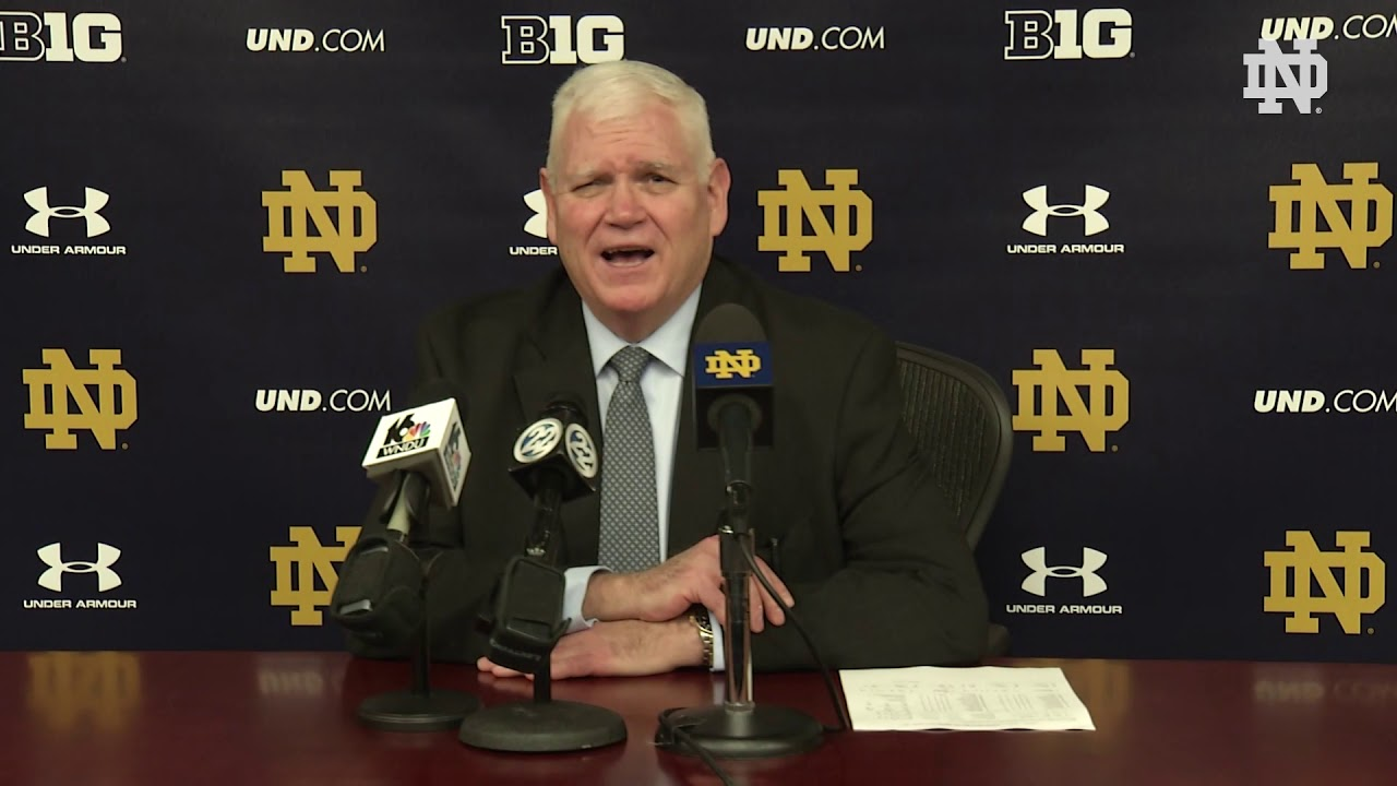 @NDHockey | Jeff Jackson Post-Game Press Conference vs. Boston College (2018)