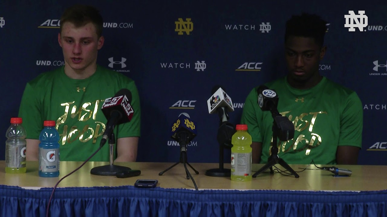 @NDMBB | Player Post-Game Press Conference vs. Virginia (2019)