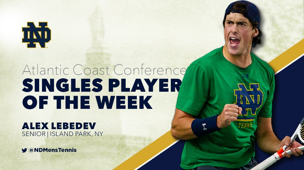 Lebedev ACC Player of the Week