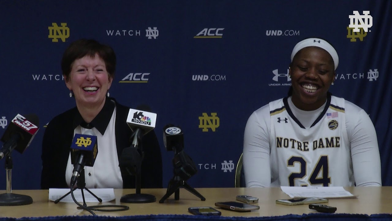 @ndwbb | Post-Game Press Conference vs. Duke (2019)