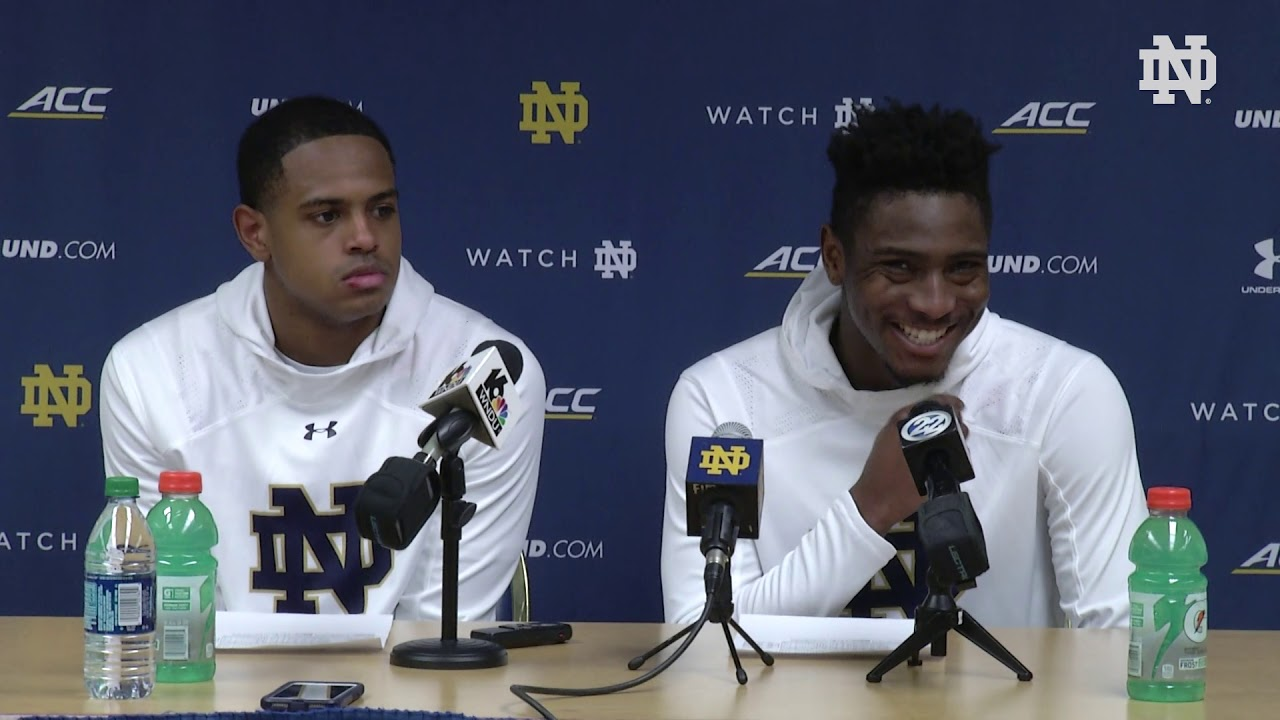 @NDMBB | Player Post-Game Press Conference vs. Georgia Tech (2019)