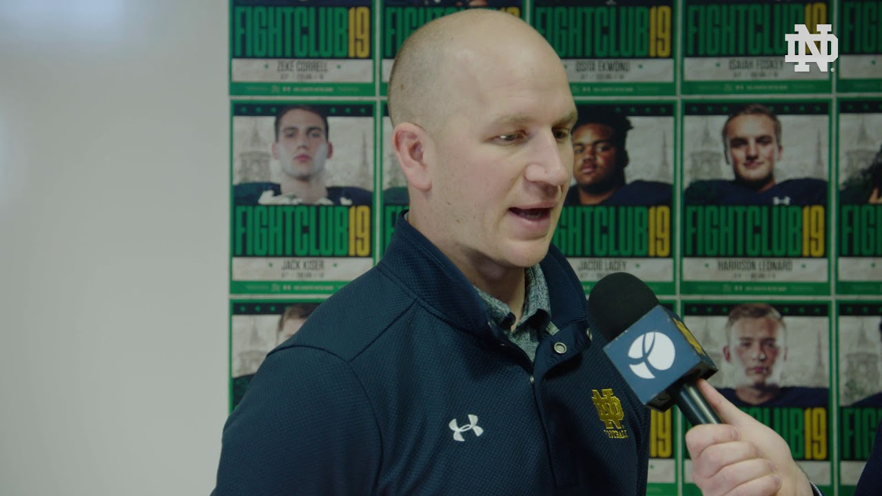 @NDFootball | Coach Lea Signing Day Interview