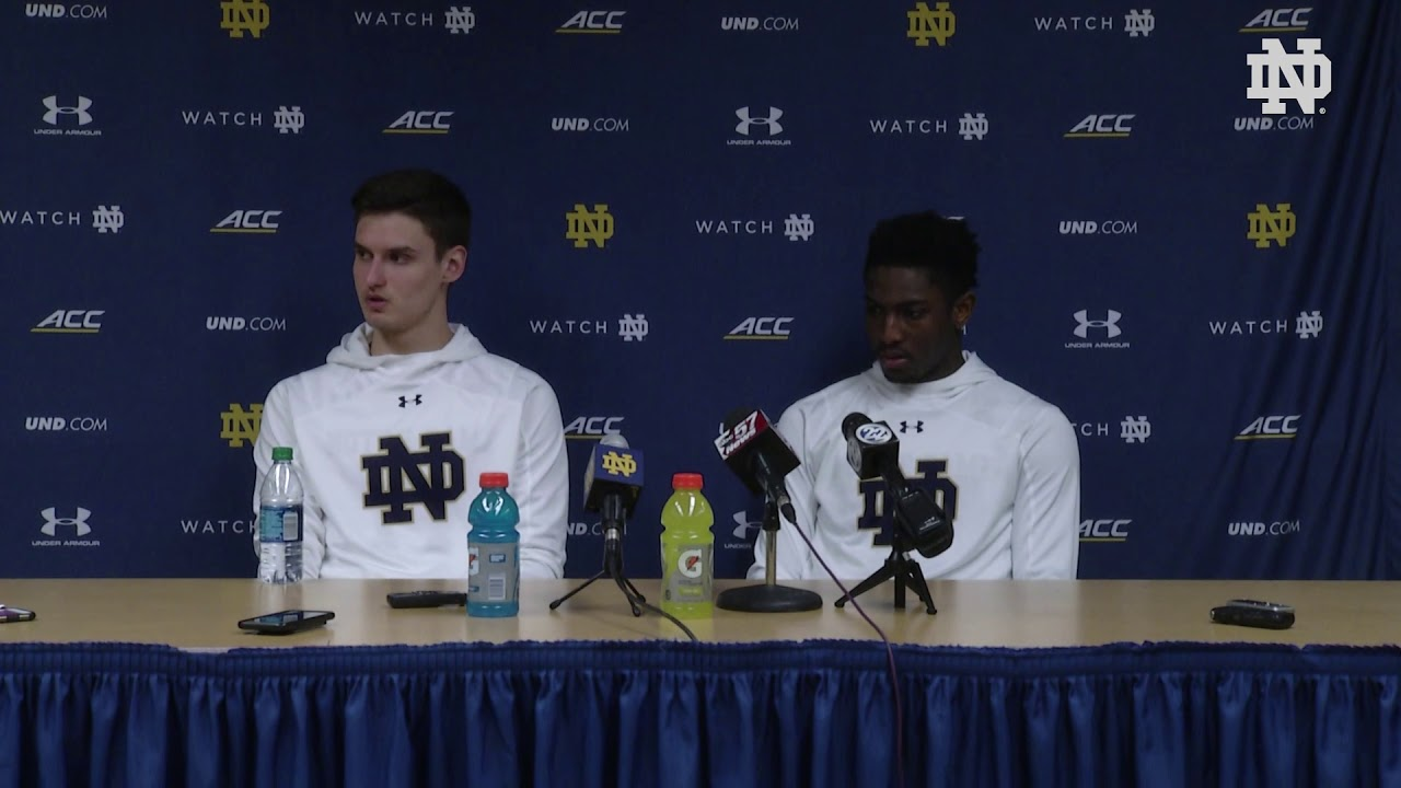@NDMBB | Player Post-Game Press Conference vs. Virginia Tech (2019)