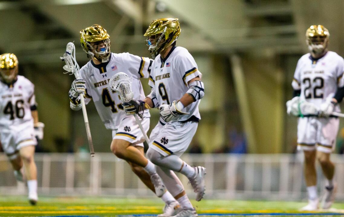 Brendan Gleason and Griffin Westlin Celebrate vs. Maryland (3-3-19)