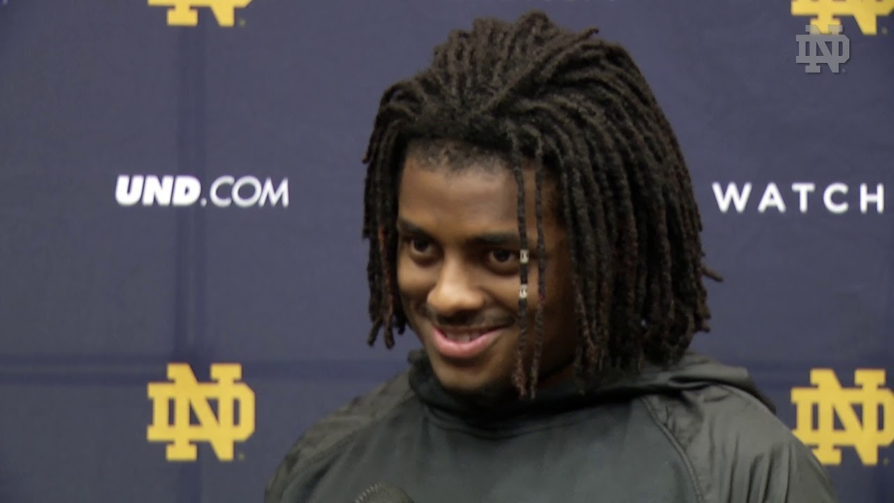 @NDFootball | Tony Jones Jr. Spring Practice Interview (2019)