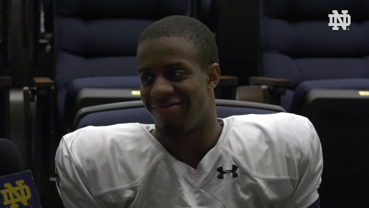 @NDFootball | Troy Pride Jr. Post-Practice Interview (2019)