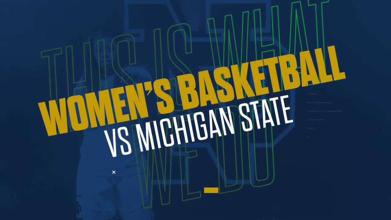 @ndwbb | Highlights vs. Michigan State, NCAA Second Round (2019)