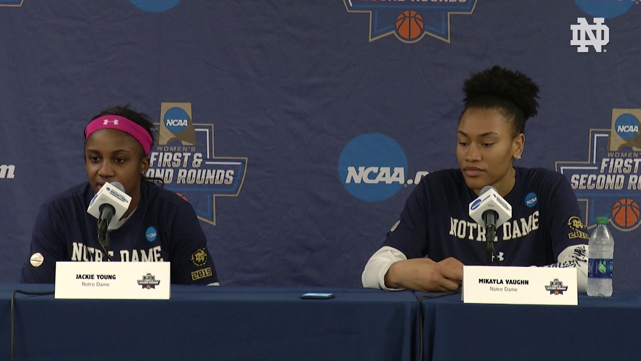 @ndwbb | Player Press Conference - NCAA Tournament Media Day 2 (2019)