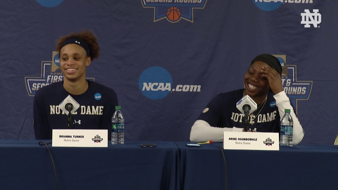 @ndwbb | Player Press Conference - NCAA Tournament Media Day 1 (2019)