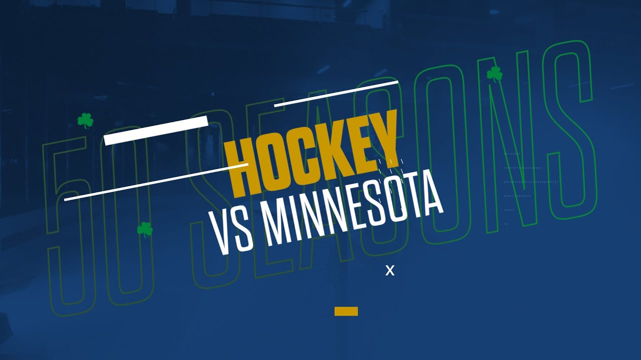 @NDHockey | Highlights vs. Minnesota, B1G Semifinal (2019)