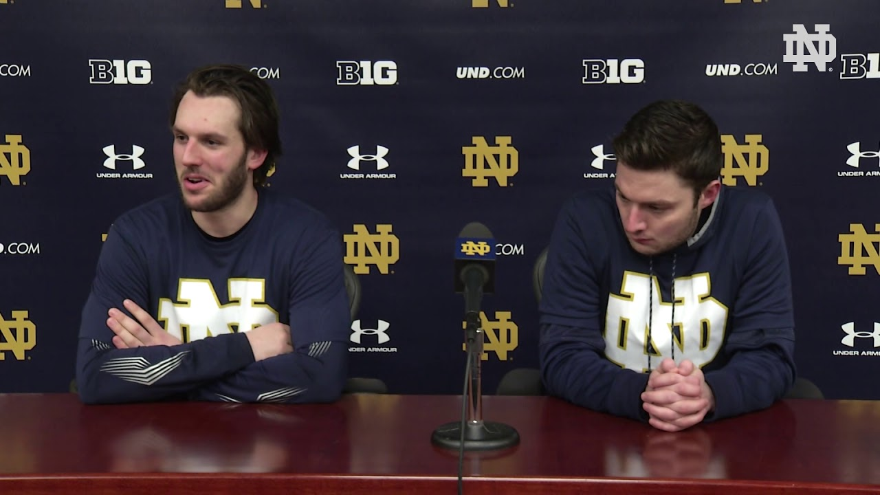 @NDHockey | Player Post-Game Press Conference vs. Michigan State (2019)