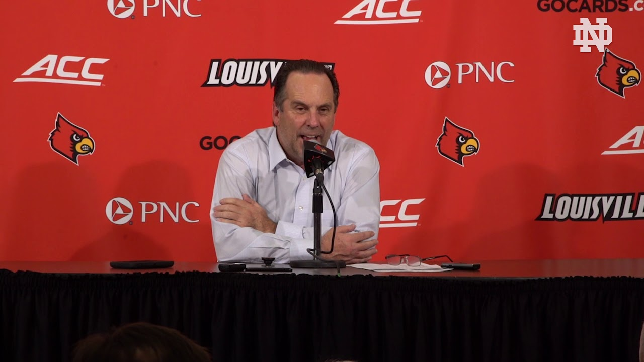 @NDMBB | Mike Brey Post-Game Press Conference at Louisville (2019)