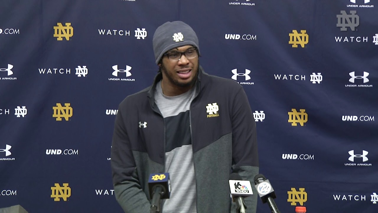 @NDFootball | Khalid Kareem Press Conference vs. Spring Practice (2019)