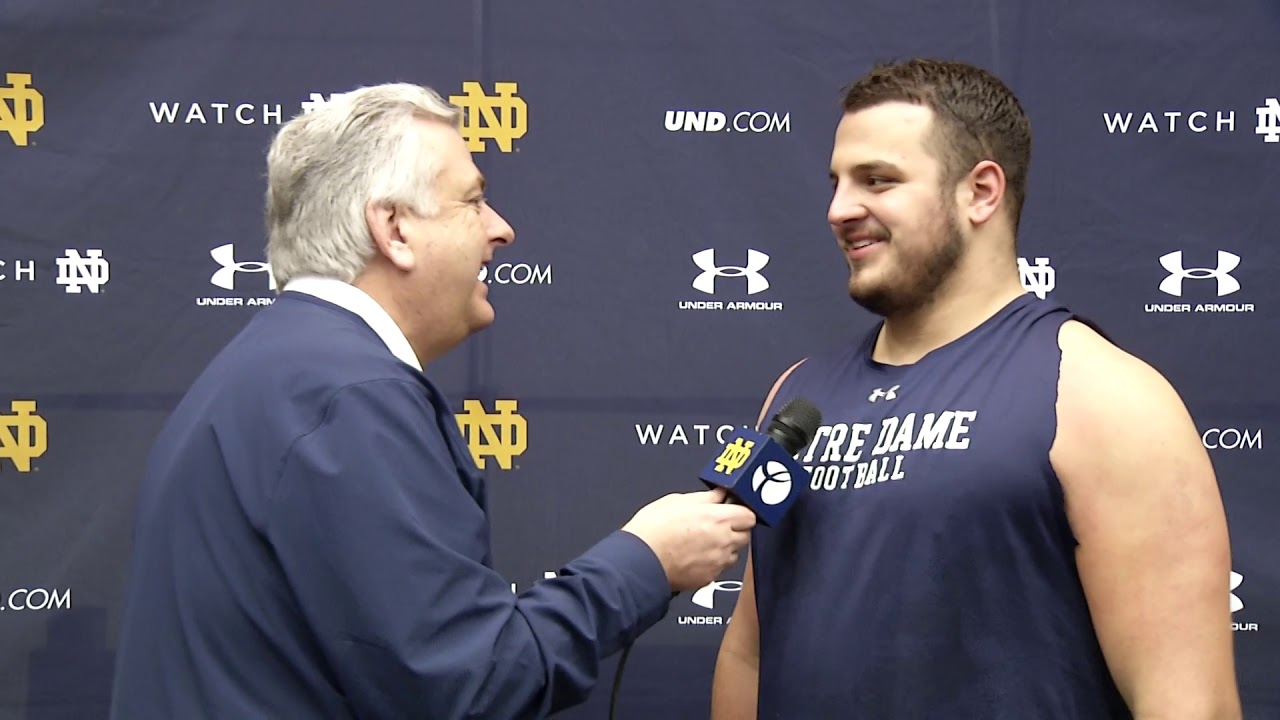 @NDFootball | Kurt Hinish Spring Practice Interview (2019)