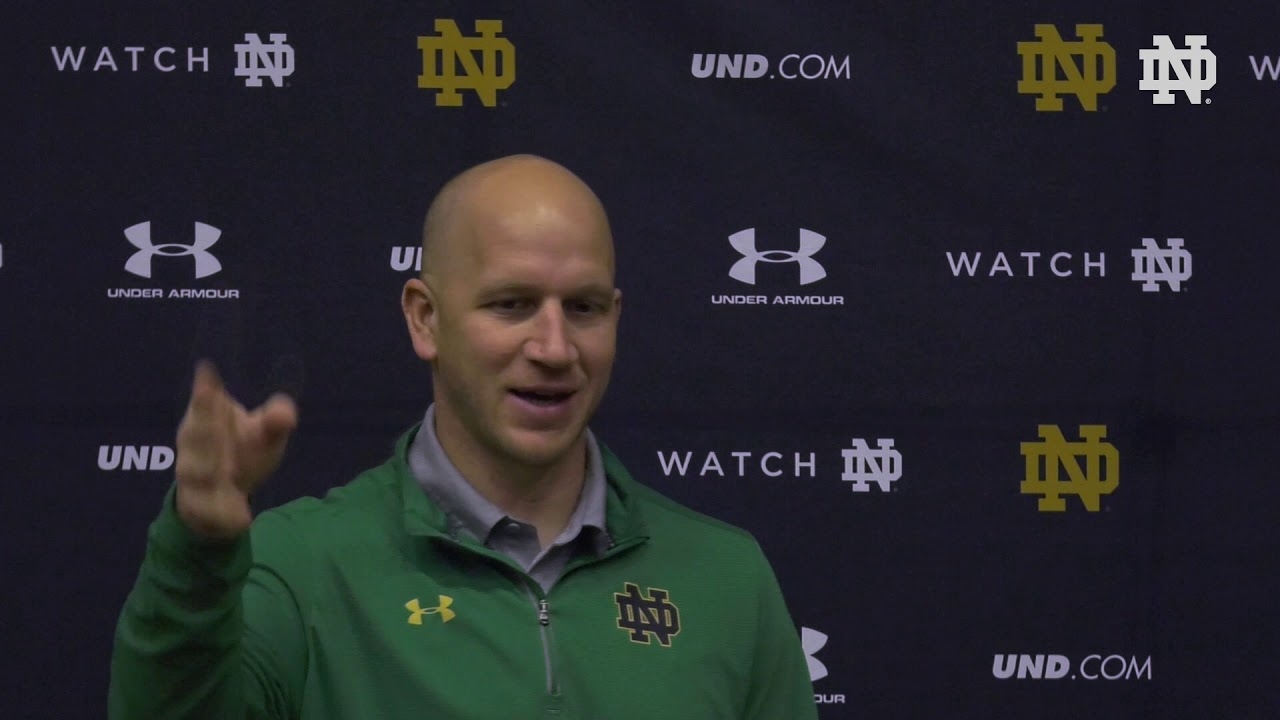 @NDFootball | Clark Lea Post Practice Press Conference 041119