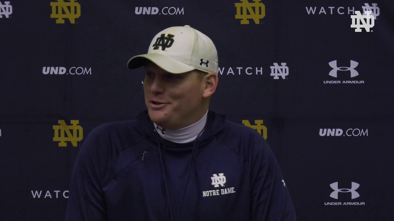 @NDFootball | Chip Long Post Practice Press Conference 041119