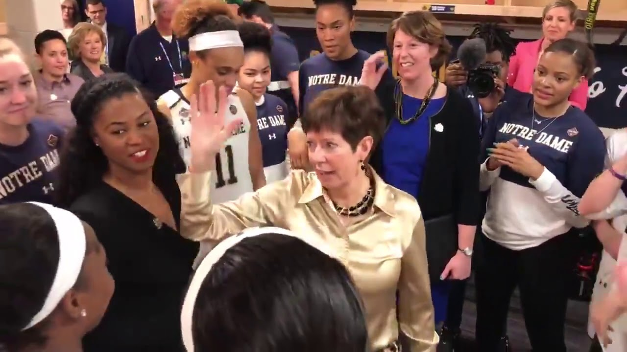 @NDWBB | Locker Room Celebration After UConn