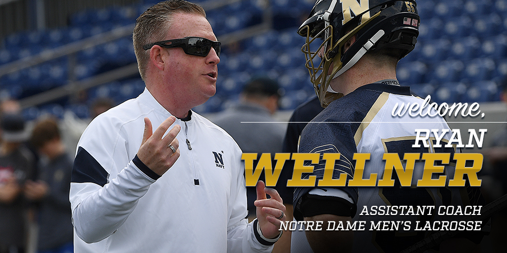 Wellner Named Men S Lacrosse Assistant Coach Notre Dame Fighting