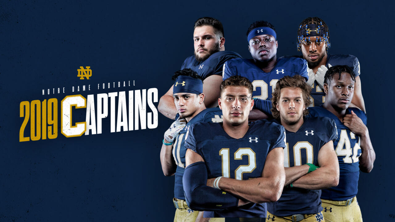 Irish Name Seven Captains For Gridiron Notre Dame Fighting Irish Official Athletics Website