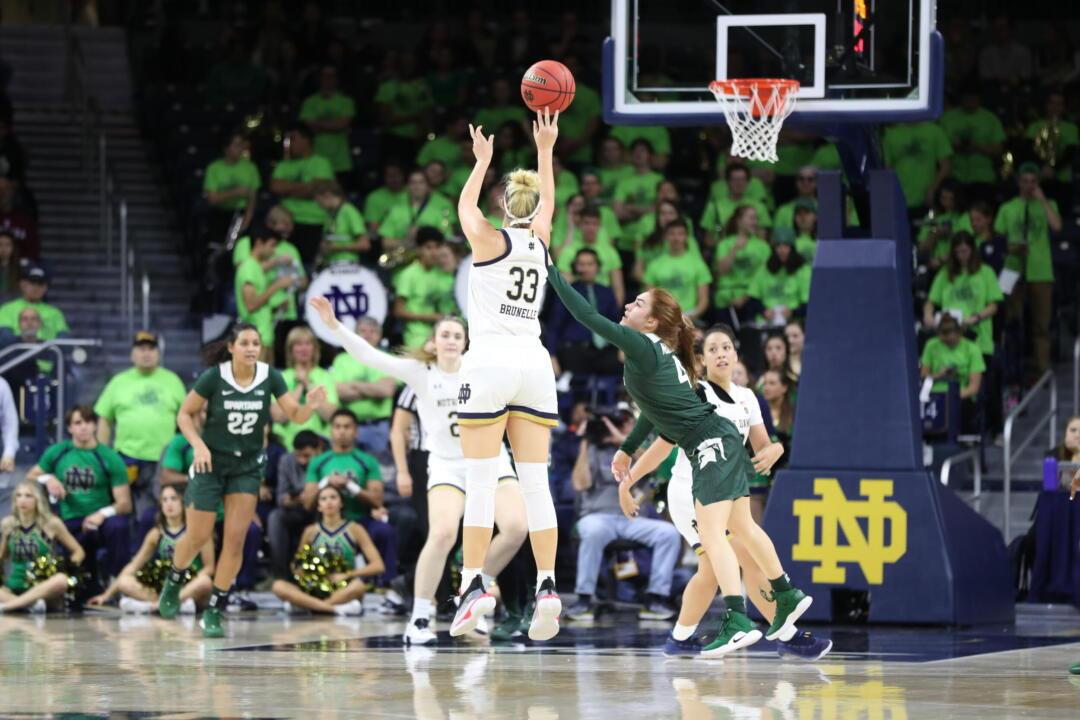 15 Irish Come Up Just Short In 72 69 Defeat To 16 Michigan
