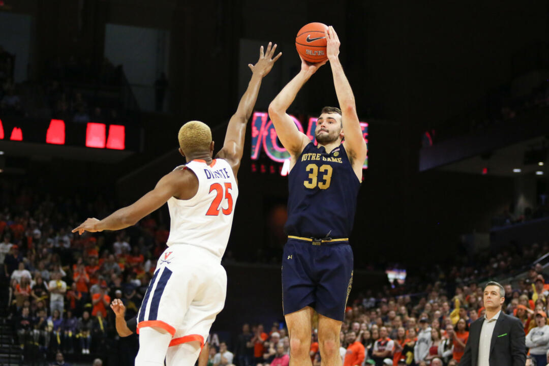 Braxton Key's FT lifts Virginia past Notre Dame, 50-49, in OT