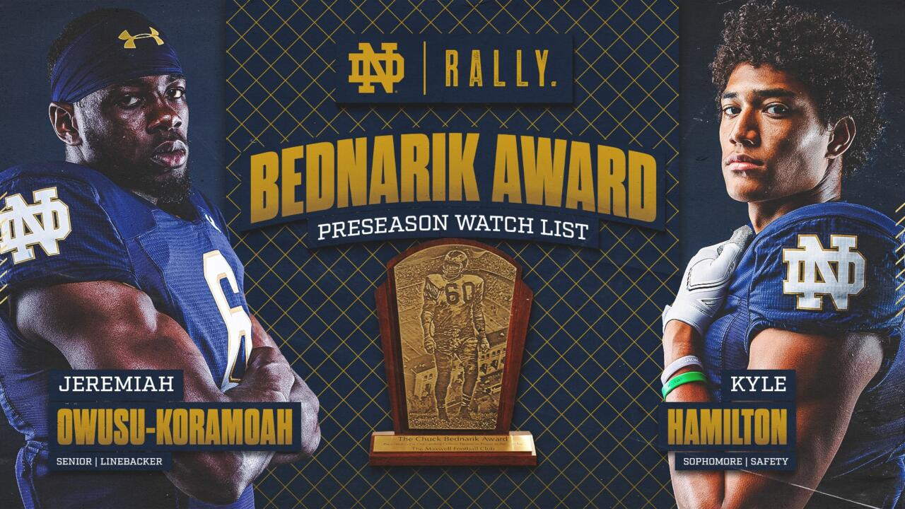 Two Wolverines, one Spartan named to Bednarik Award watch list